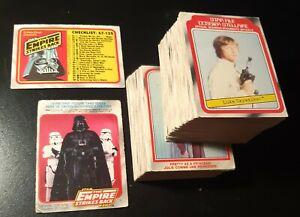 STAR WARS EMPIRE STRIKES BACK 1980 NON SPORT CARDS SET 120/132 OPC  CANADA
