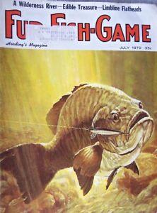 Vintage Hunting Fishing Magazine   FUR-FISH-GAME   7-70   STURM-RUGER 10/22