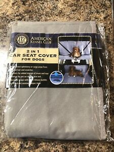 AKC Car Seat Cover For Dogs New American Kennel Club -Gray