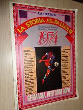 FASCICOLO LA STORIA NEL PALLONE SESSANT´ANNI DI MONDIALI LA STAMPA 1974