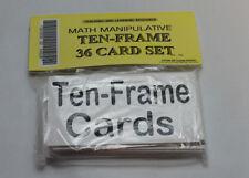 Ten-frame Card Set - Homeschool Pre-school- Kindergarten BLACK WHITE Teaching