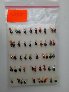 Hand made 50 pcs very small ice jigs mormyshka for ice winter fishing ice lures