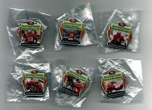 PINS 6 - SAN FRANCISCO 49ers CHRONICLE FOOTBALL PIN 2011 SET CRABTREE GORE DAVIS