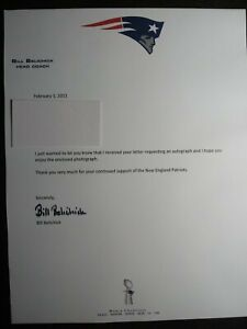 BILL BELICHICK Authentic Hand Signed Autograph LETTER - PATRIOTS COACH