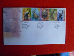 97 WILDLIFE OF ANCIENT AUSTRALIA  FDC WITH  SOUTH PERTH TURTLE PICTORIAL