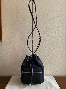 Lauren Ralph Lauren Nylon Debby II Drawstring Bag Black