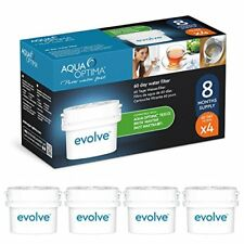 Aqua Optima Evolve - Lot pour 8 mois, 4 x filtres à eau 60 jours - compa - NEUF