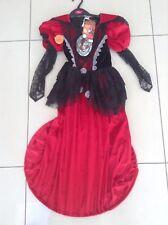 """Girls Vampiress Halloween Costume  Age 7-8 """"Tu"""""""