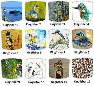 Kingfisher Lampshades, Ideal To Match Kingfisher Duvets Covers.