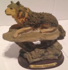 "Wolf / Wolves Figurine - Resi - Beautiful Life Like - 6"" High - Base 3X4 1/2"""