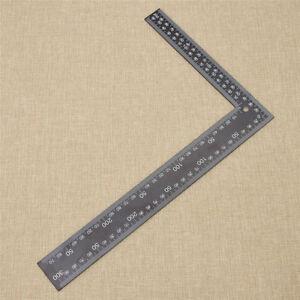 Lineal Stahl Rechter Winkel Leder Werkzeug Nähen Handarbeit DIY Neu Schwarz