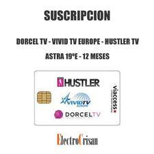 DORCEL TV - VIVID TV EUROPE - HUSTLER TV - ASTRA 19ºE - 12 MESES