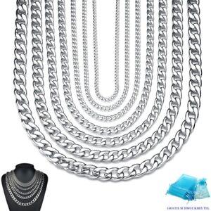 PANZERKETTE 2 mm - 8 mm Massiv Edelstahl Halskette 35 cm - 120 cm Herren Damen