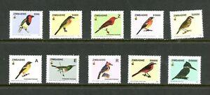 E051 Zimbabwe 2005 Oiseaux 10v. MNH