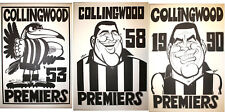 1953 58 90 Collingwood Magpies Weg Posters Premiership Poster Grand Final
