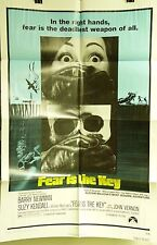 "VTG 1973 ""FEAR IS THE KEY"" US RELEASE ORIG 1SH 27X41 FILM POSTER MICHAEL TUCHNER"