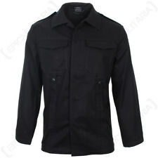 German Old Style Moleskin Field Jacket - Black 100% Cotton Army Military New
