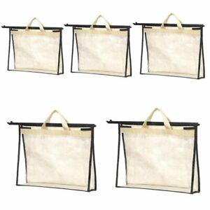 Dust Cover Handbag Storage Case Hanging Closet Storage Bag Travel Organizer