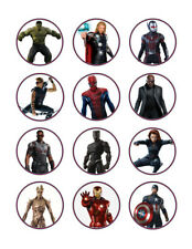 Avengers edible party cupcake toppers decoration frosting toppers 12/sheet*