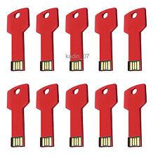 Lot 10 16GB USB Flash Drive 16G Memory Pen Stick Wholesale Key Shape Bulk Pack