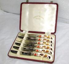 6 ROYAL CROWN DERBY ASIAN ROSE IMARI TEA KNIVES BOXED SET