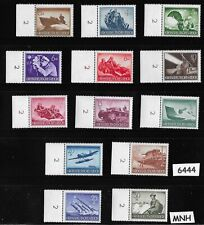 #6444  Complete MNH WWII stamp set Military Hero's Armed forces 1944 Third Reich
