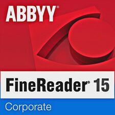 ABBYY FINE READER 15 CORPORATE (ITALIANO) software modifica PDF OCR Windows PC