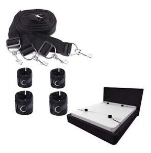 Under Bed Restraints System Bondage Handcuffs Wrist to Ankle BDSM Fetish Sex Toy