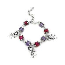 Teddy Bear Charm Bracelet Purple Pink Children's Toy Little Girls Birthday Gift