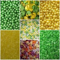 Easter Spring Yellow Green Bunny Egg Cake Decorations Topper Sprinkles Dragees