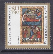 Germany B662 Mnh 1987 Illustration from Book of Psalms Christmas Issue Vf