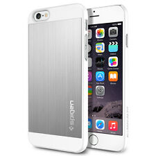 [Spigen Outlet] Apple iPhone 6 / 6S Case [Aluminum Fit] Satin Silver Slim Cover