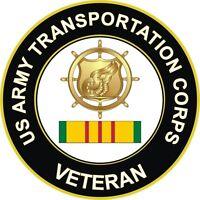 "Army Transportation Vietnam Veteran 5.5"" Window Sticker Decal"
