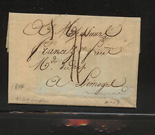 France  1814 stampless letter with cloth samples attached  LOOK    LT0811