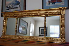 Antique Gilded Empire Art Nouveau Old Victorian Vintage 19 Century Glass Mirror
