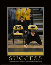 Iowa Hawkeye Wrestling Motivational Poster Art Shoes Tom Terry Brands MVP65