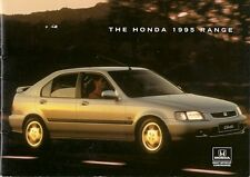 Honda 1995 UK Market Sales Brochure Civic CRX Accord Prelude Shuttle Legend NSX
