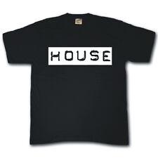 HOUSE Club dance music vinyl rave DJ cool funny festival T-shirt