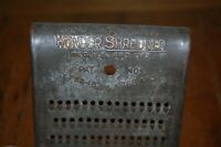 The Wonder Shredder vintage tin kitchen grater utensil collectible