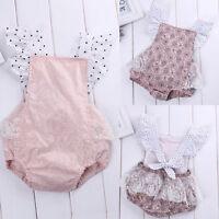 Cute Newborn Baby Girls Floral Romper Bodysuit Jumpsuit Outfits Sunsuit Costume