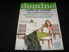 DOMINO MAGAZINE JUNE/JULY 2007 RELAX AT HOME EASY DECORATING IDEAS WITH STICKERS