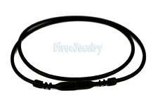 "16.5"" Black Silicone Soft Rubber Necklace Cord with Snap Lock Waterproof AUST"