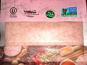 Salt 84 HIMALAYAN PINK SALT Fine Grain 1 lb/454g -- Vegan Kosher Halal Non-GMO
