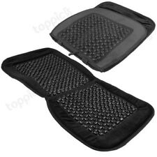 Car Van Taxi Front Seat Cover Cushion Black Wooden Bead Beaded Massage Massaging