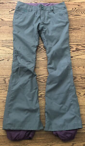 Burton Dryride Snowboard Ski Pants Womens M. The White Collection. Waterproof
