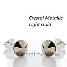 925 Sterling Silver Stud Earrings Crystal Effects 7 mm Crystals from Swarovski®