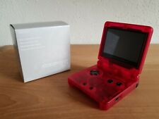 Nintendo GameBoy Advance SP IPS Screen Rot Transparent Konsole Game Boy + Kabel