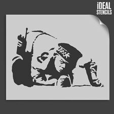 Banksy Snorting Cocaine Copper Stencil Reusable Wall Home Decor Ideal Stencils