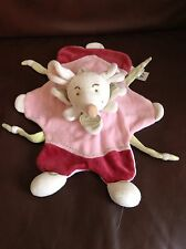 Doudou Et Compagnie Mouse Souris Baby Comforter Pink Red Soft Toy Bebe Plush D&C