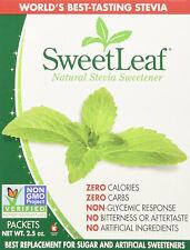 SweetLeaf Natural Stevia Sweetener, SweetLeaf, 9 x 70 packets